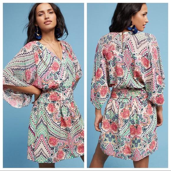 Maeve Dresses & Skirts - Anthro Maeve Siya Dress in Pink Combo Size 8 EUC